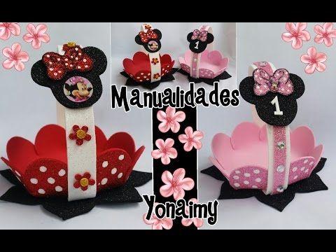 Hola amigas hoy les traigo este lindo dulcero de Minnie Mause, ideal para fiestas infantiles, económico y sobre todo fácil de hacer. Para…