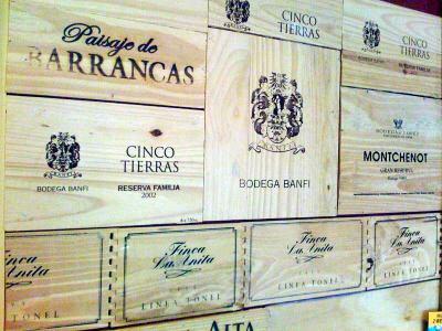 Vintage wine crate panel wall.  Please visit: www.thewonderfulwoodcompany.com, TWWCUK@gmail.com | Global Shipping