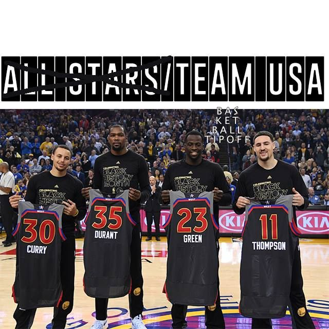 Are Golden State Warriors America's team.  With all the talk about Stephen Curry having 3 other All-Stars to play with everyone has failed to notice.  @Kevin Durant and company represent 4 members of TEAM USA. Team USA has 12 members it was 10 members. Make no mistake if you were to pick Team USA at the end of this regular season you would pick 4 players from the Dubs.  KD Steph Splash Klay Thompson Splash and Draymond Green.   I wonder if Max Kellerman of First Take realised that when he…