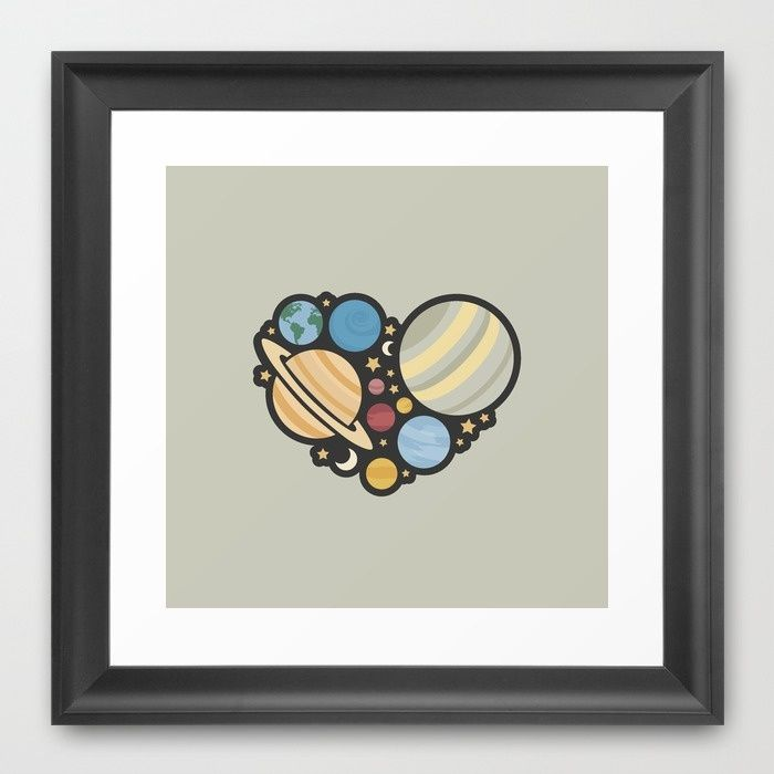 Heart of an Astronaut Framed Art Print