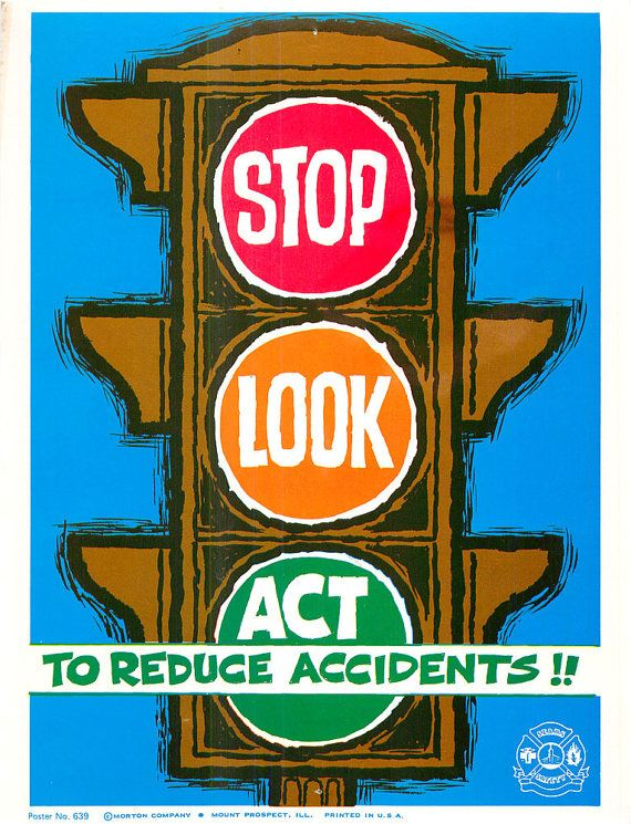 Vintage Work Safety Poster Sears Workplace Stop by vintagegoodness