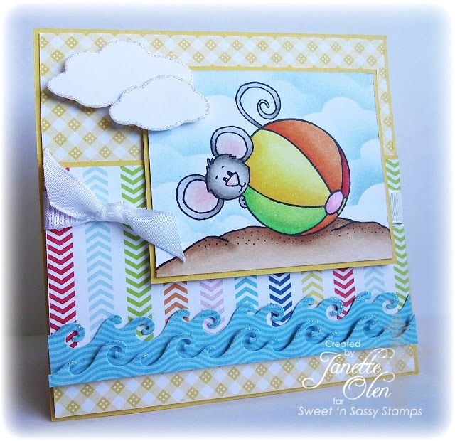 Sweet 'n Sassy Stamps used: Beach Bum Cocoa, Wave Dies.
