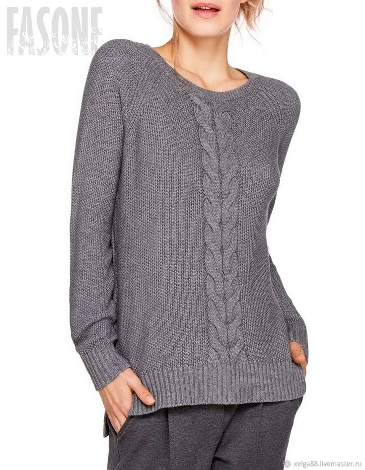 """Свитер серый """"Серый Кот"""". Серый свитер Серый свитер – купить в интернет-магазине на Ярмарке Мастеров с доставкой"""