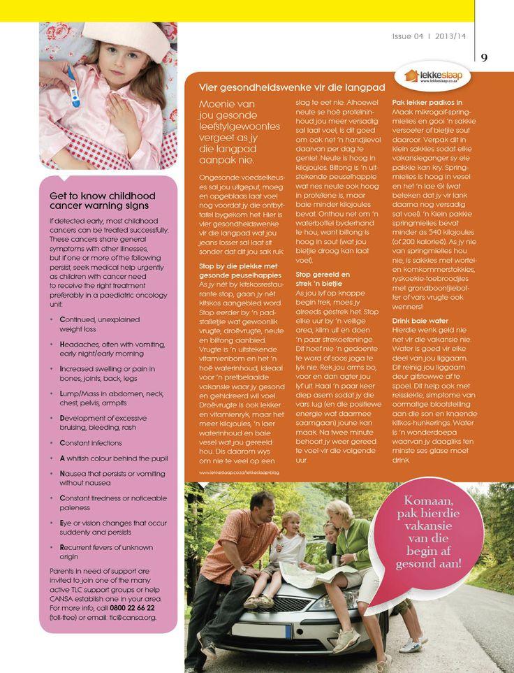 LekkeSlaap se 4 gesondheidswenke vir die langpad verskyn in die nuutste Intercare-tydskrif (uitgawe 4)!