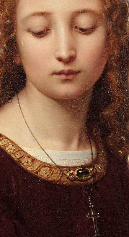 Ernst Deger (1809 -1885), Portrait of a Young Woman, 1853, detail