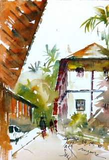 [sketch paintings tour in konkan,India]   Urban Sketchers