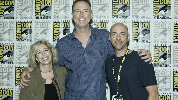 Psych producers Kelly Kulchak, Steve Franks, and Chris Henze attend 'Psych the Reunion' at San Diego Comic-Con 2017