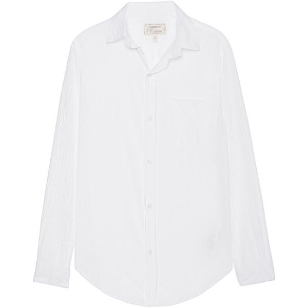 CURRENT/ELLIOTT School Clean White // Cotton blouse with chest pocket ($285) ❤ liked on Polyvore featuring tops, blouses, cotton shirts, shirt blouse, white blouse, white cotton shirt and cotton blouse