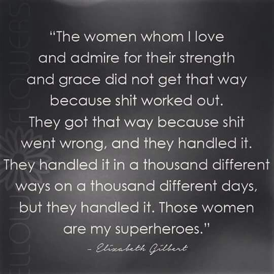 My grandma, my Mom, my sister, my aunt, my nieces......my INSPIRATIONS!!!!! LOTS of strong women in my family!