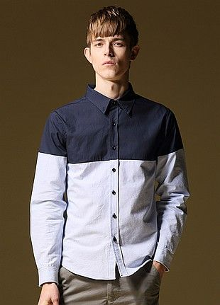 Allin Menswear Shirt-Blue