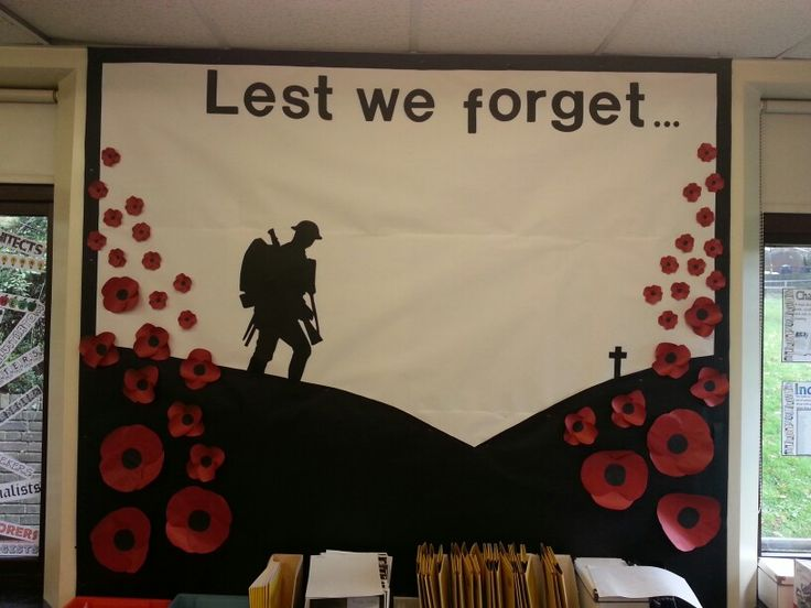 Remembrance day classroom display                                                                                                                                                                                 More