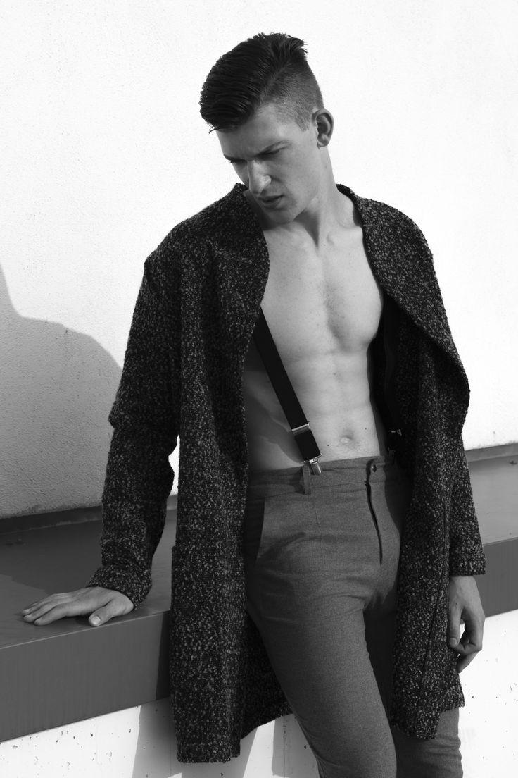 On Top fashion editorial. PH: Łukasz Babst Model: Janusz Górka / AS Management Stylist: Domino_ Dominika Szatkowska  Pents: Keyce  Coat: MALE-ME