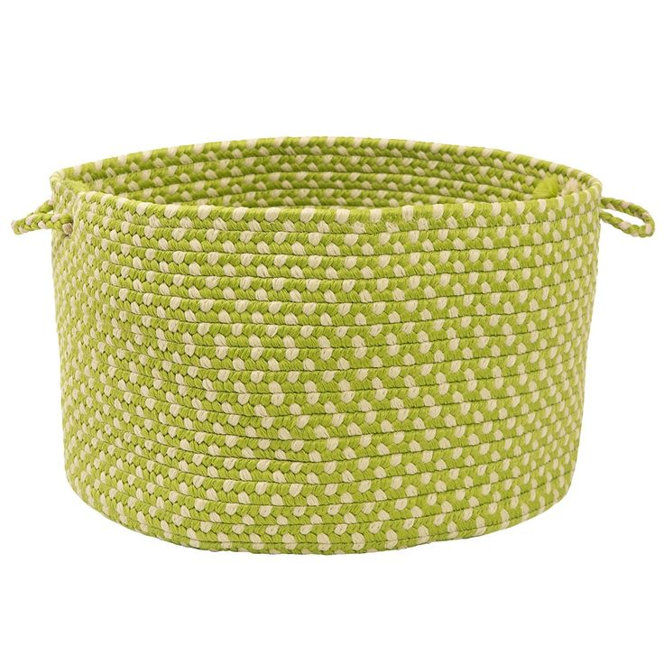 love chartreuseWoven Baskets, Cleaning, Households Cleaners, Basketconstruct Materials, Montego Utility, Utility Baskets, Products, Limes Twists, Kids Toys