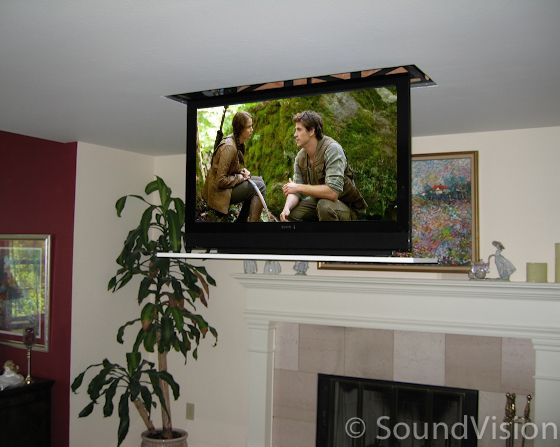 One Of The Best Ways To Hide Your Television Is With A Motorized
