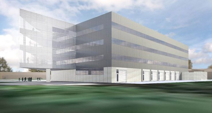 Ford becoming first corporation to co-locate in an academic building as it works side-by-side with University of Michigan researchers in a new state-of-the-art robotics center. Architectural rendering of the northeast elevation planned Robotics Laboratory, which will be built northeast of the Space Research Building on the University of Michigan's North Campus.