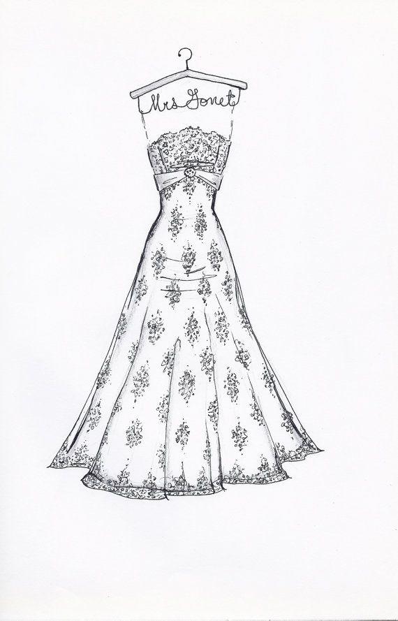 Wedding dress sketches pinterest site