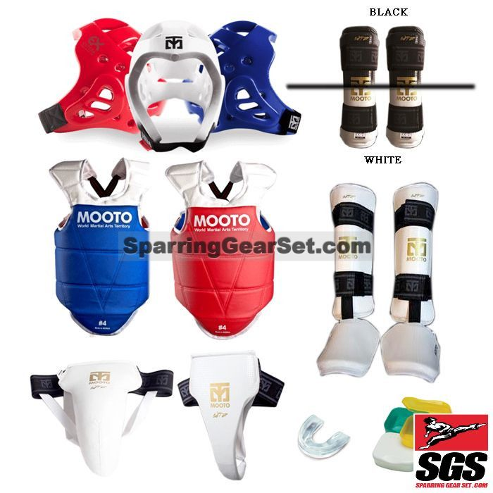 Mooto Extera Complete Taekwondo Sparring Gear Set w/ Shin Instep Guards