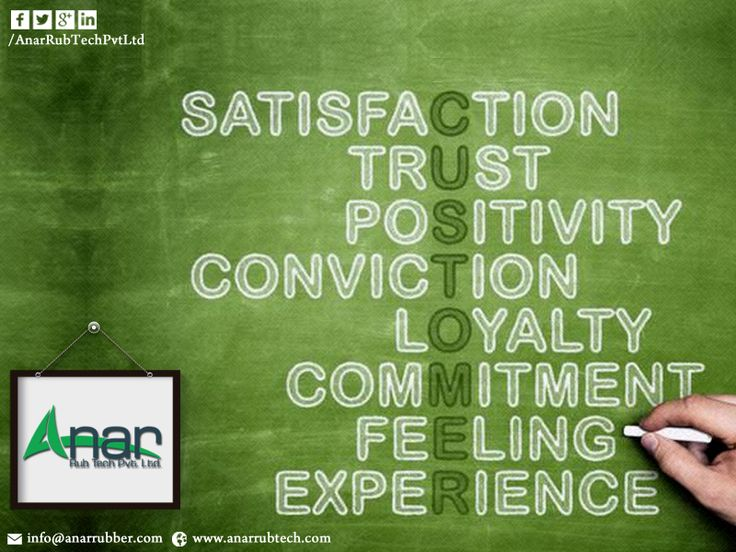 #Satisfaction ,#Trust ,#Positivity ,#Conviction ,#loyalty , #commitment , #Feeling , #Experience at - Anar Rub Tech Pvt Ltd