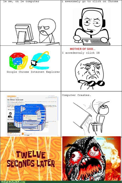 Funny Rage Comics Internet Explorer Meme