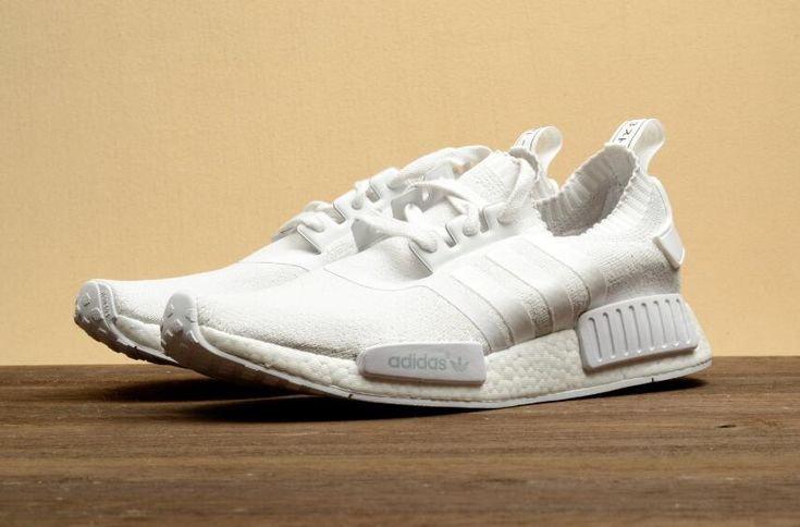 Authentic Adidas Originals NMD_R1 BA8630 All White Walking Shoes DHL Free Shipping for Sportman_08