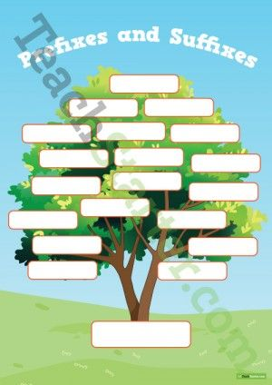 Prefixes and Suffixes Tree Poster and Worksheet