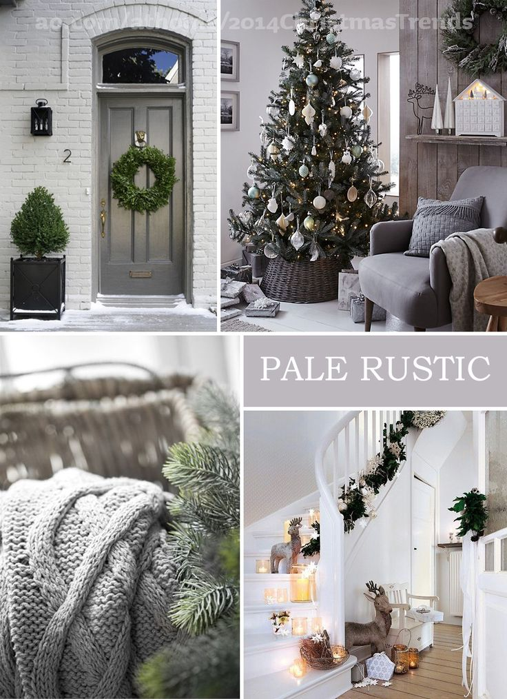 Best Christmas Stairs Decorations Ideas On Pinterest - Decorating dining room christmas white silver christmas palette