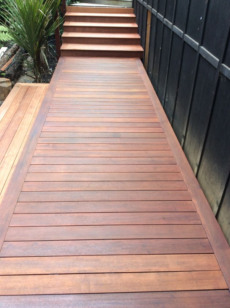 Freshly oiled Shadow board walk. Looking just like new!   This is one of the benefits that you get from having used Shadow Hidden Deck Fasteners.  You can sand your Shadow Dome Decking and won't have the problem of hitting unsightly popped up nail heads.
