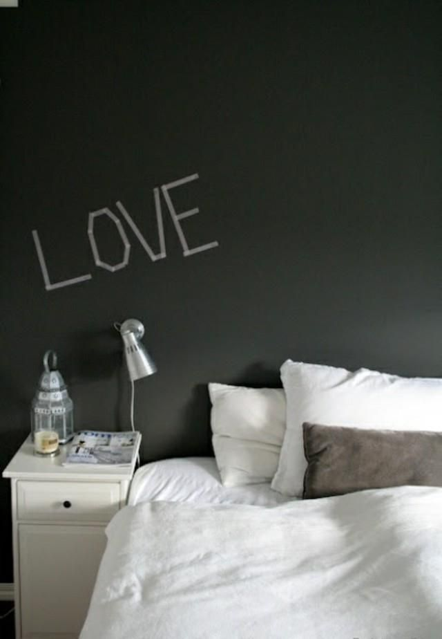 Smooth slate wall painting love Chalkboard