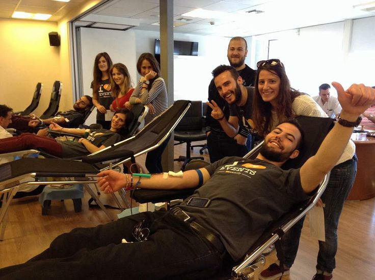 Donating blood at the Hygeia hospital in Athens!