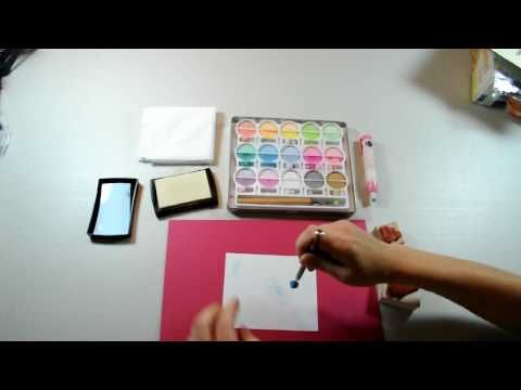 How to Chalk with the VersaMark Stamp Pad - YouTube