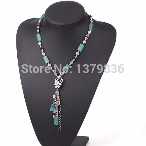 Найти ещё Массивные ожерелья Сведения о Y форма агат и синий нефрита ожерелье, высокое качество комплект колье, Китай ожерелье корея поставщиков, Бюджетный агат сфере из Lucky Fox Jewelry на Aliexpress.com