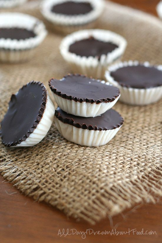 Easy Low Carb Chocolate Coconut Cups - from All Day I Dream About Food.