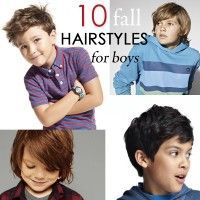 Cute on-trend fall hairstyles for boys. I like the short & shaggy one