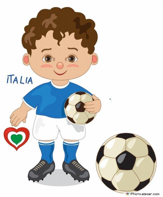 Italy National Jersey, Cartoon Soccer Player
