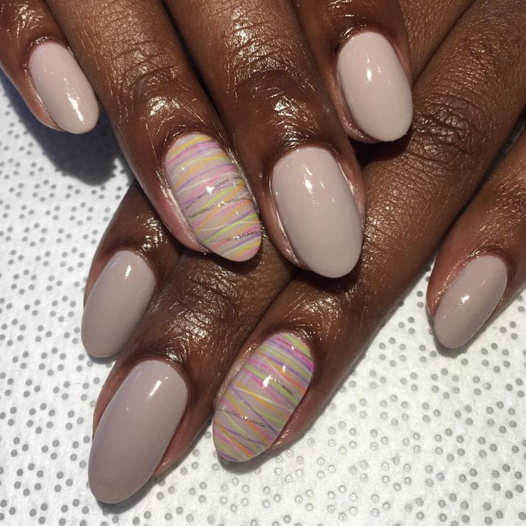 759 best black girl nails images on pinterest acrylics almond beige with subtle stripes find this pin and more on black girl nails prinsesfo Images