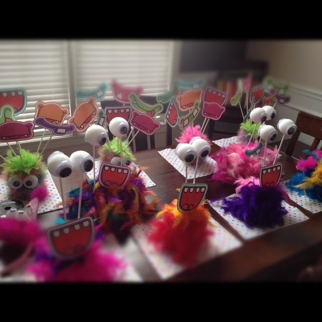 Monster party centerpieces #monster #party