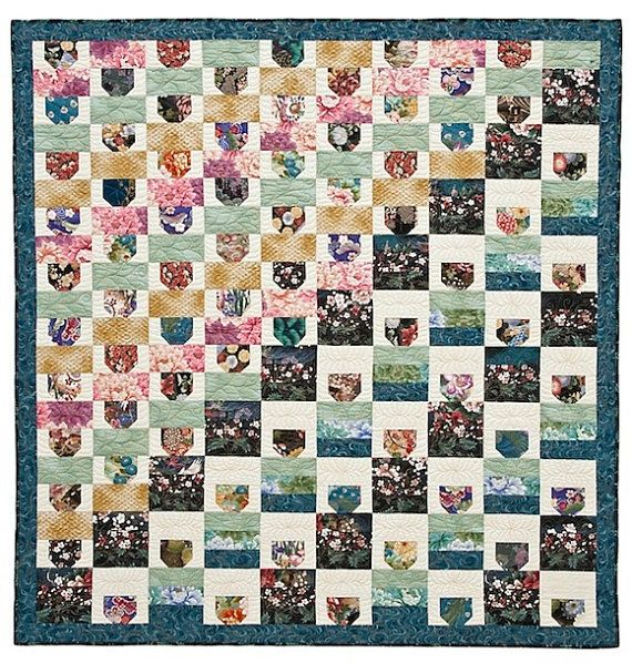 Asian Teacups Quilt Pattern by lnownes on Etsy