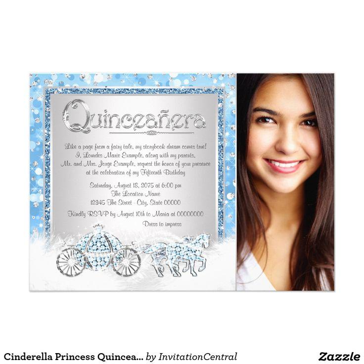 Cinderella Princess Quinceanera Card 1030 best An