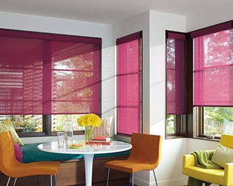 hunter douglas roller shade with literise option this red roller shade has a cordless option