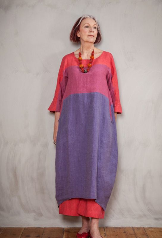 Terry Macey Striped Dress in linen
