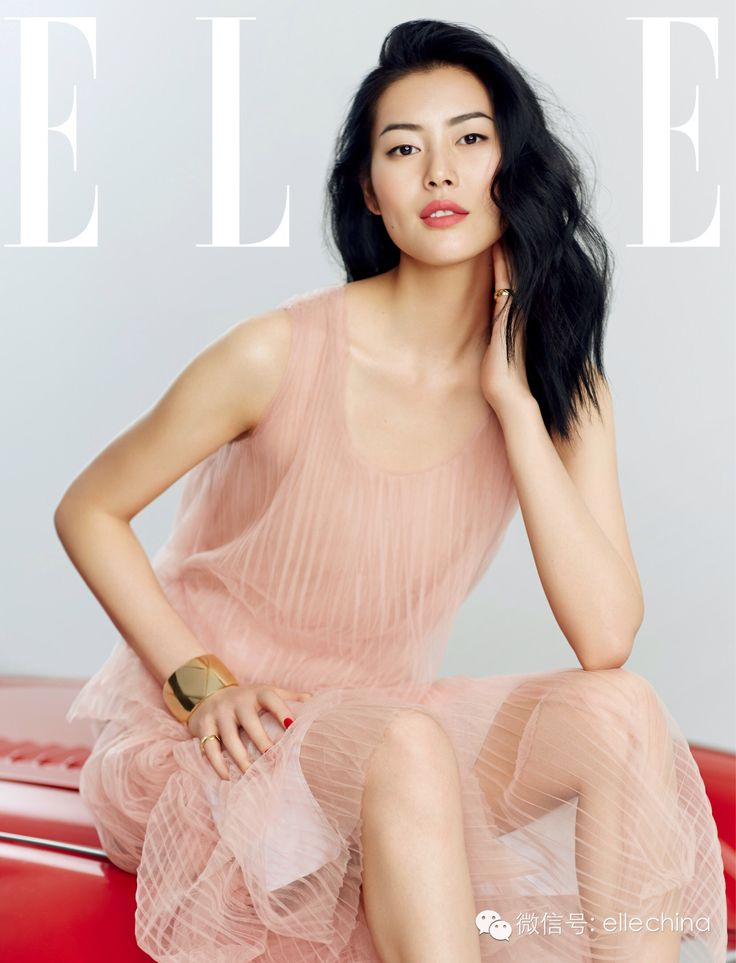 Liu Wen by Zack Zhang for Elle China June 2015 - Burberry Spring 2015 dress, CHANEL Coco Crush