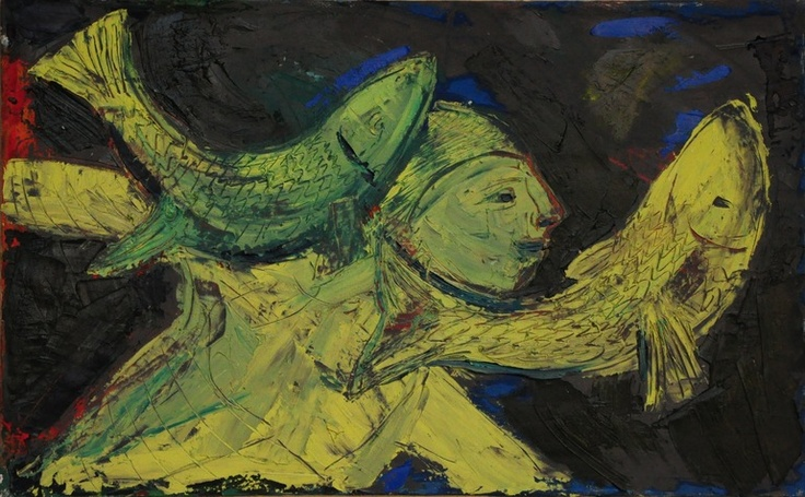 """Saatchi Online Artist: paolo figar; Oil, 2011, Painting """"istruttore di nuoto"""""""
