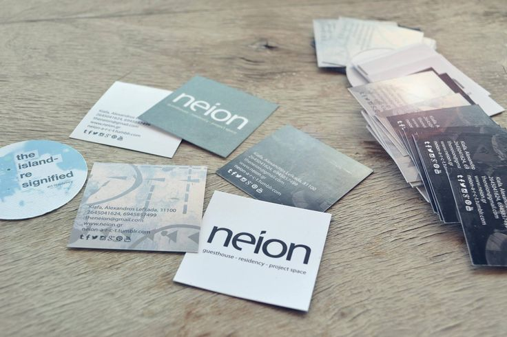 neion new business cards!