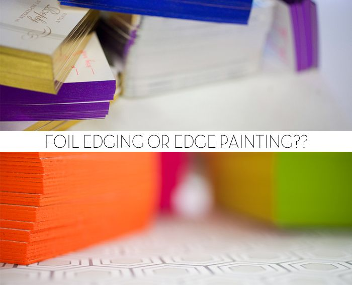 Foil edging vs. edge paint from Bella Figura