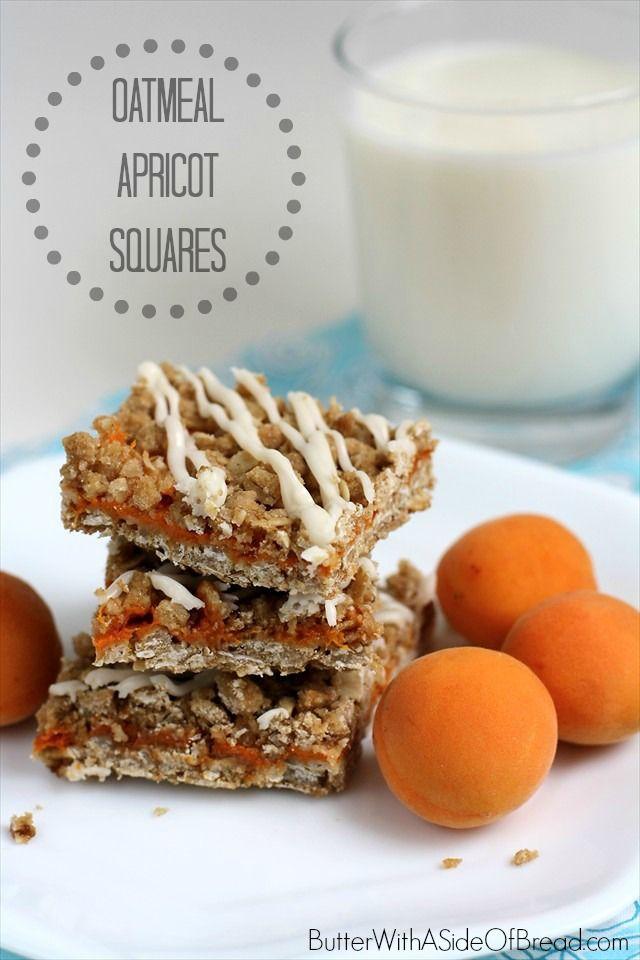 Oatmeal Apricot Squares | Desserts | Pinterest