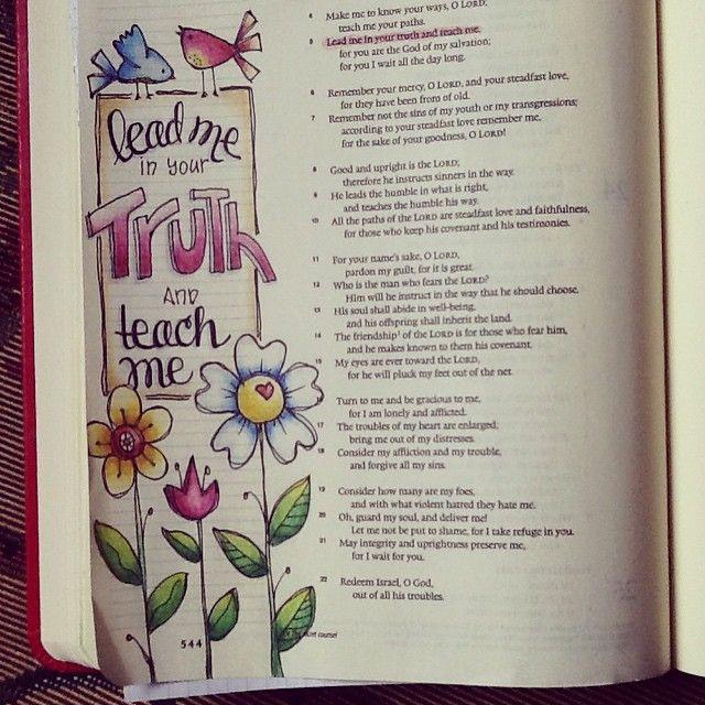Psalm 25:5 #biblejournaling #illustratedfaith
