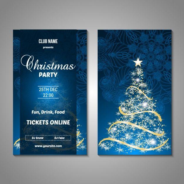 дизайн Рождественский вечер плакат Бесплатные векторы