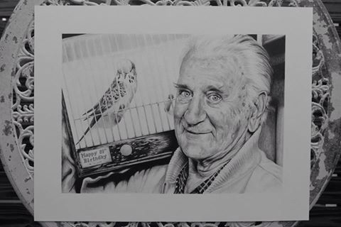 My drawing of my dear Pop.  Amy Peters-Artist Facebook