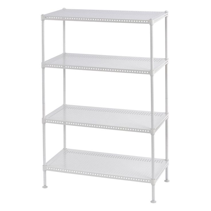 muscle rack 4tier perforated steel garage shelving unit pws2412354w