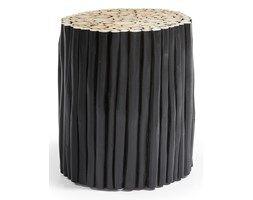 LaForma :: Podnóżek FILIPPO czarny drewniany